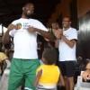 Luc Mbah a moute Camp 2013 - orphelinat