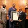 Le Maire de Houston honore Luc Mbah a Moute