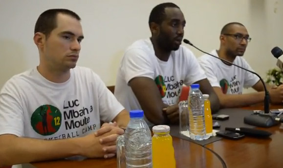 Luc Mbah a Moute Camp 2013 - conference