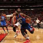 Luc Mbah a Moute 76ers @ Heat