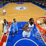 Luc Mbah a Moute 76ers vs Nuggets