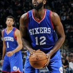 Luc Mbah a Moute 76ers vs Spurs