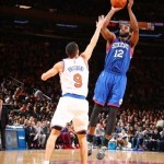 Luc Mbah a Moute Knicks vs 76ers