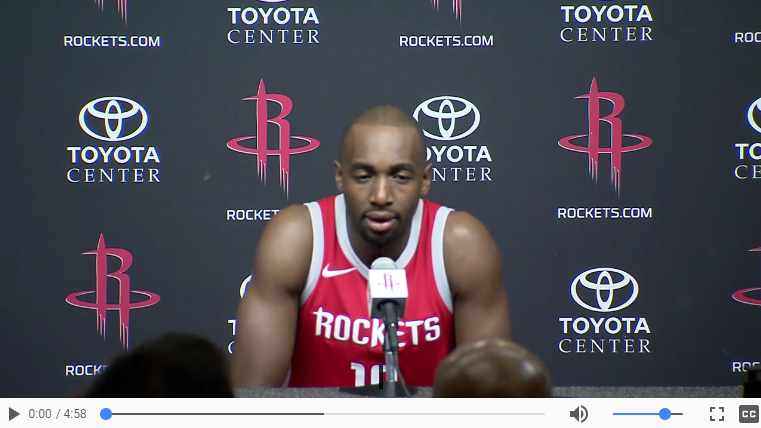 Luc Mbah a Moute Media Day