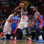 Luc Mbah a Moute Sixers vs. Pistons