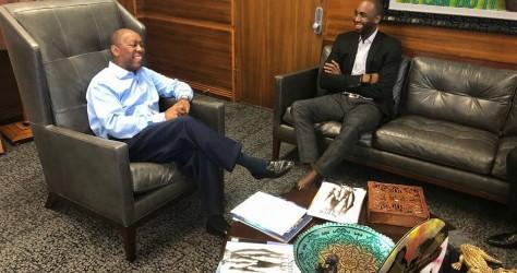 Réunion avec le Maire de la ville de Houston, Sylvester Turner.
