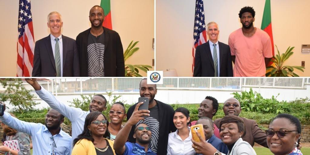 Luc Mbah a Moute en visite à l'embassade US de Yaounde