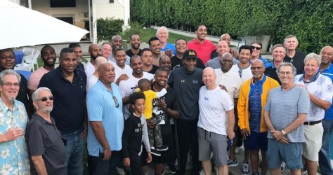 Luc à la réunion des anciens de l'UCLA !